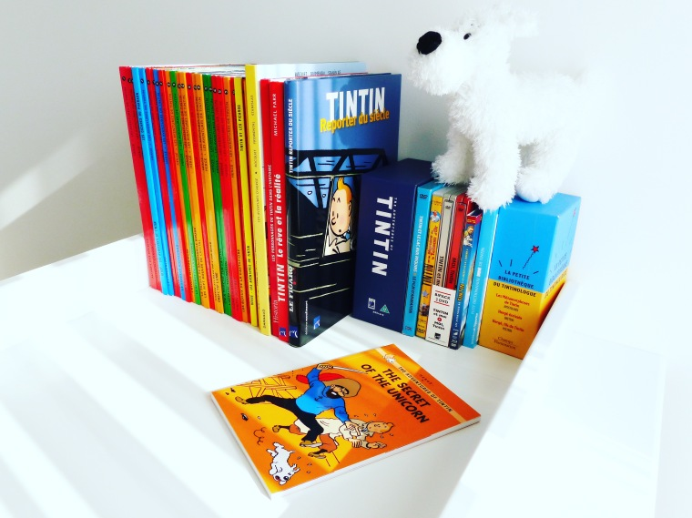 Milou veille à ma collection de Tintin...