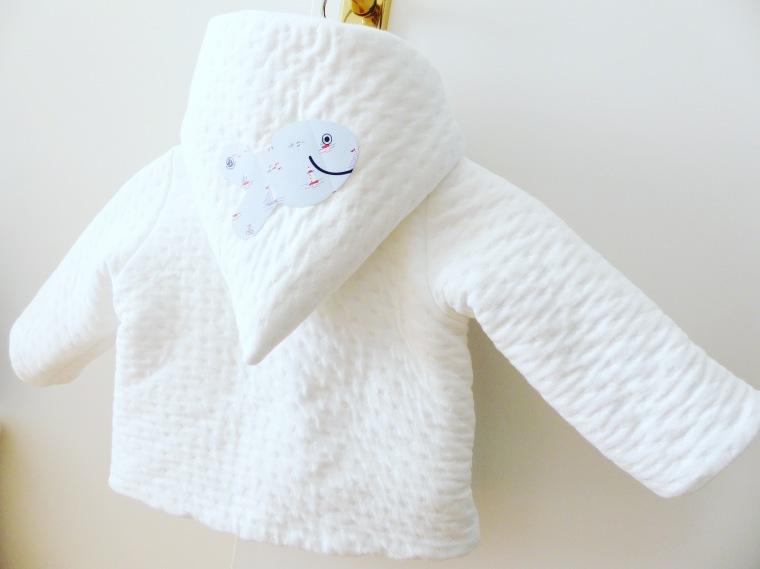 Manteau matelassé blanc : Petit Bateau