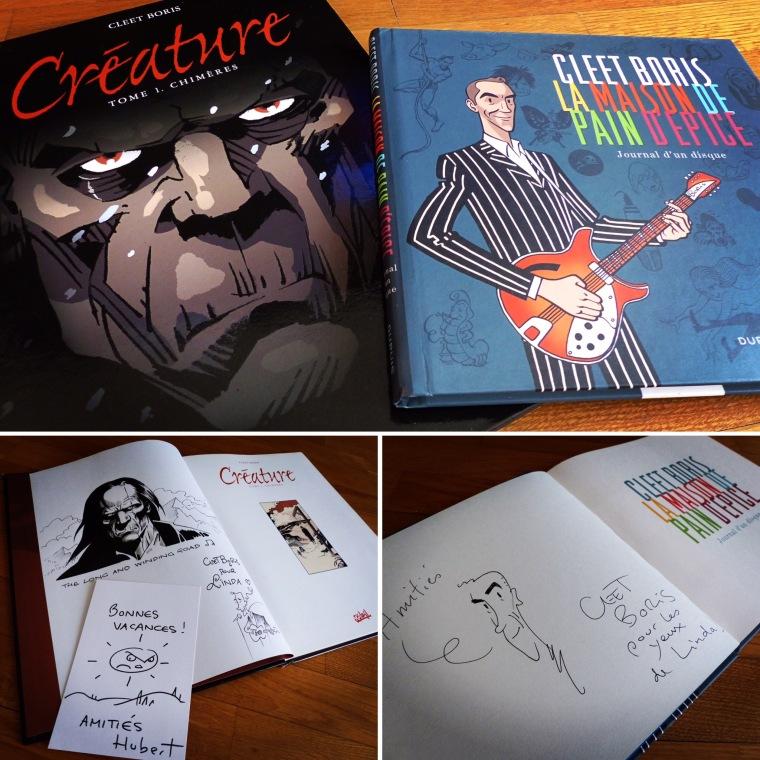 Deux bandes dessinées signées Cleet Boris (et les dédicaces qui vont avec)