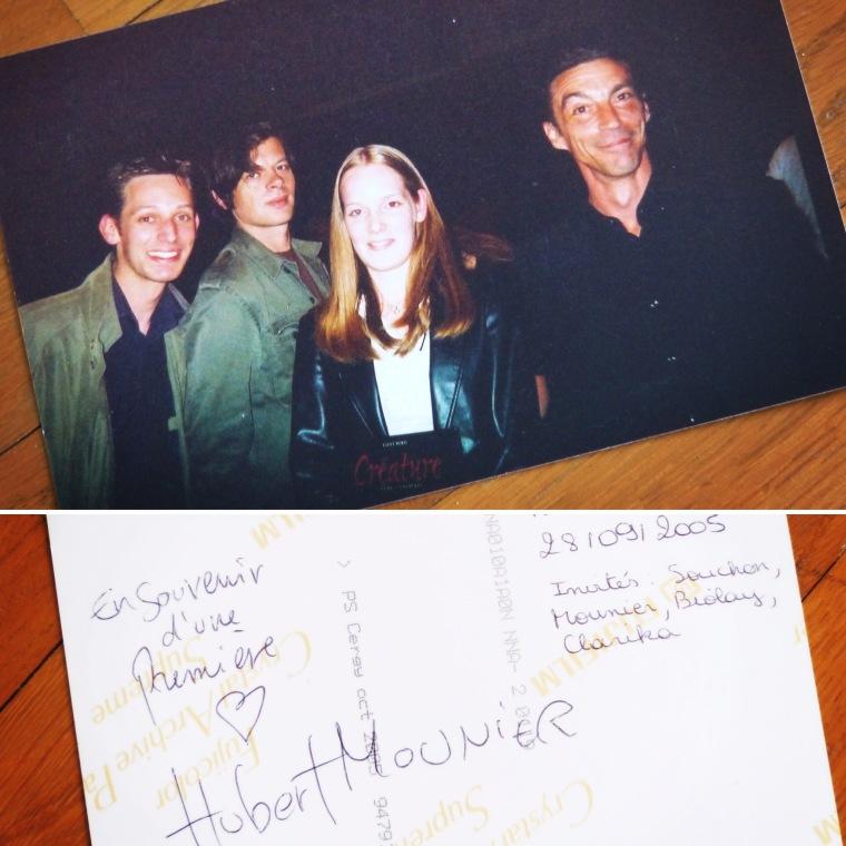 """Souvenir inoubliable en 2005 lors de l'enregistrement de l'émission """"Le Pont des Artistes"""" sur France Inter. Avec mon frère Julien, Benjamin Biolay et Hubert Mounier"""