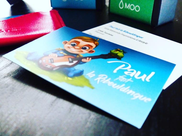 Mes jolies cartes de visite sont arrivées ! Porte-cartes : Nat & Nin