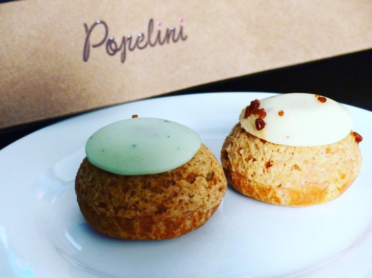 Je me régale avec les choux Popelini Pistache confit de griotte et Vanille de Madagascar !